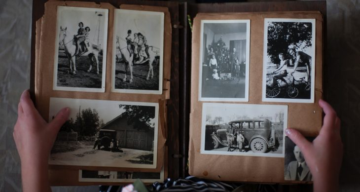 Photo of an old family photo album